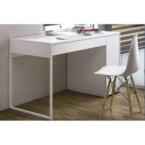 bureau laque blanc achat vente bureau laque blanc pas cher cdiscount. Black Bedroom Furniture Sets. Home Design Ideas
