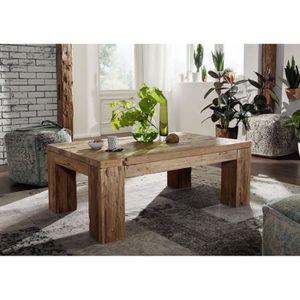 TABLE BASSE Table basse 120x80x45cm - Bois recyclé de teck bru