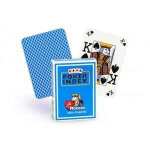 CARTES DE JEU Cartes Poker Index 100% plastique (bleu clair)