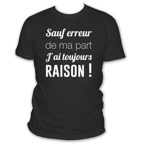 T-SHIRT jc factory tee - shirt l'humour sauf erreur de ma