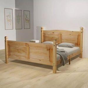 STRUCTURE DE LIT Cadre de lit avec matelas Pin mexicain Corona 140