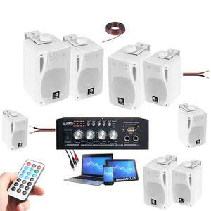 PACK SONO SONO MAISON MAGASIN 8 ENCEINTES 80W + 1 AMPLI BLUE