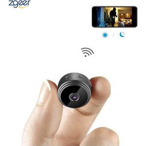 CAMÉRA MINIATURE Caméra Espion  Cachée Cam Mini IP WiFi HD1080P Vis