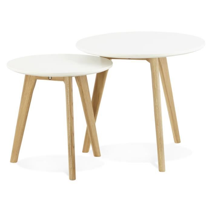 Tables gigognes ronde 'GABY' style scandinave