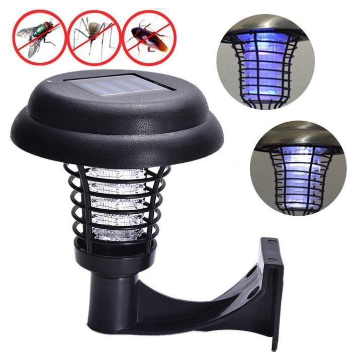 LED solaire lumière Pest Bug Zapper insectes tueur de moustique Lampe de pelouse jardin LQB525