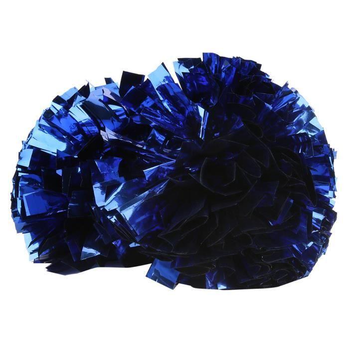 Pompom de Cheerleading Boule de Fleur de Pom-Pom Girl Accessoire de Danse Aérobie pour Sport(Bleu )-FAS