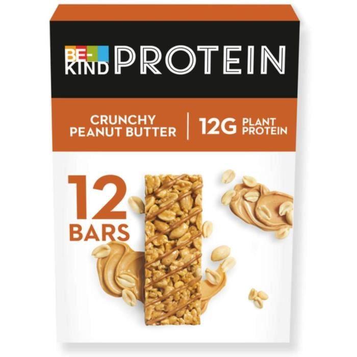 BE-KIND PROTEIN Crunchy Peanut Butter – Barres protéinées de fruits à coque sans gluten – Pack de 12 barres - 600g170