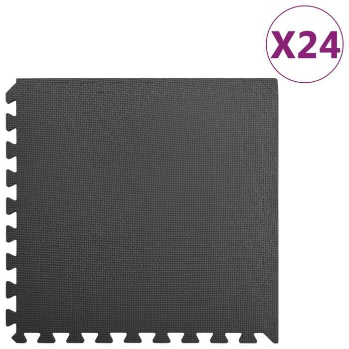 ��5326 Tapis de sol 24 pcs 8,64㎡ Mousse EVA Noir