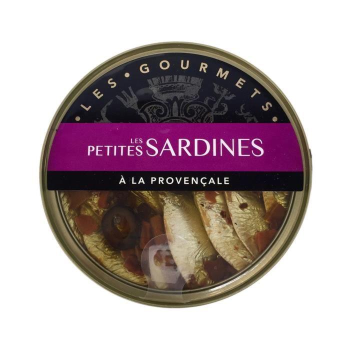 Petites sardines à la provençales Les Gourmets - 120 g