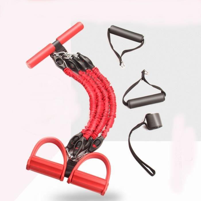 Cordes de traction élastiques abdominales exercice rameur ventre résistance bande maison gymnastique S - Upgraded 4 tubes - KOBM2421