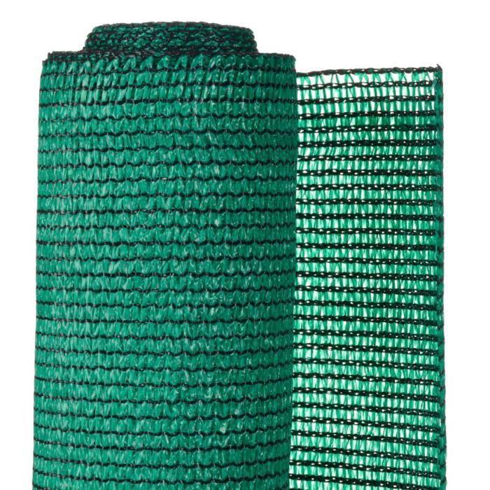 ♫1631 Brise-vue Classique - Clôture Grillage PE 1,5x10 m Vert FNCM®