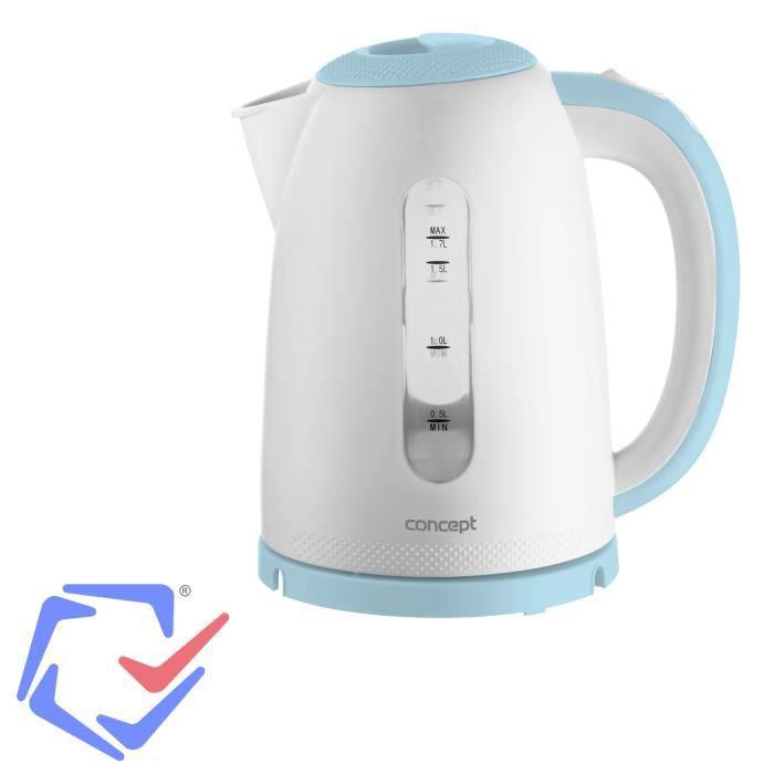 Concept Palette bouilloire électrique 1,7l bleu café thé cuisine