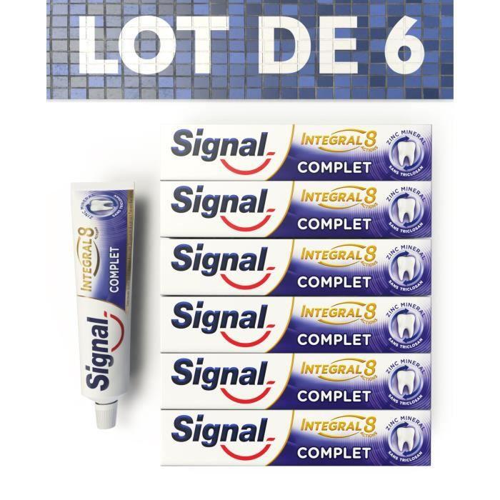 SIGNAL Lot de 6 dentifrices Integral 8 Protection Complète 48H - 75ml