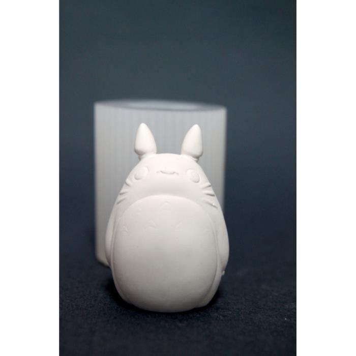 Moule,Moules à bougies en Silicone Totoro, moules à Fondant de savon et bijoux en argile polymère en caoutchouc pour décorations de