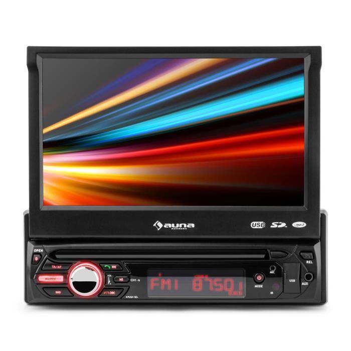 auna MVD-310 Autoradio Bluetooth avec écran tactile 17,8 cm (7-) , port USB , entrée SD & tuner FM RDS - 4 x 25W RMS