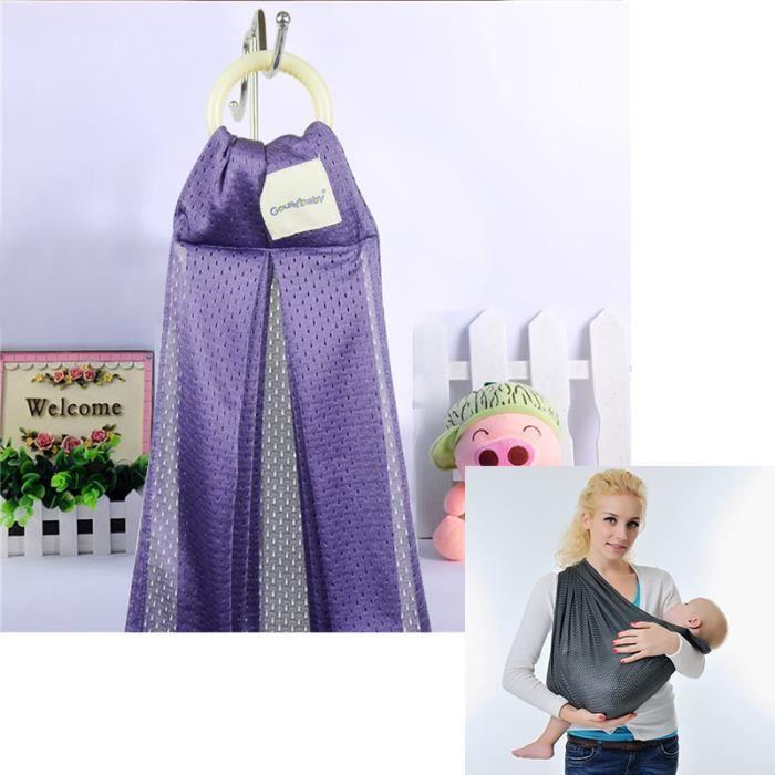 Echarpe de portage 0-36 mois violet mode Ventilation en maille Multifonction Simplicité Confort et sécurité Économie du travail