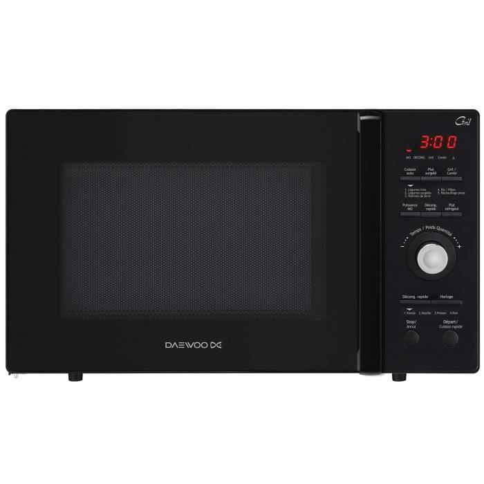 Daewoo - micro-ondes + gril 26l 900w noir - kog-9gmr