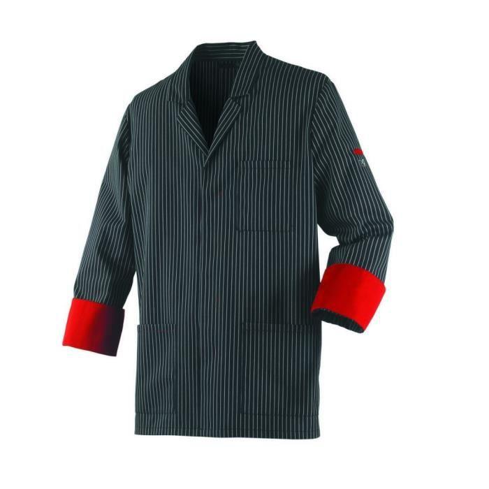 Veste de boucher mixte manches longues Robur Ardoise - Noir - S