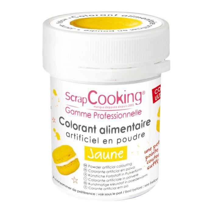 Colorant alimentaire (artificiel) - Jaune - Scrapcooking