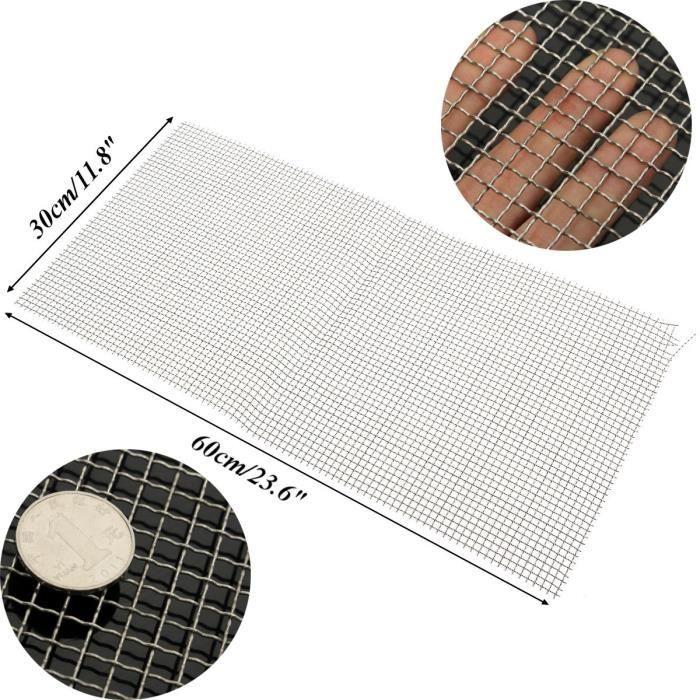 304 Acier Inox 4 Mesh Wire Cloth Screen Sheet Filtration filtre Feuille 30x60cm
