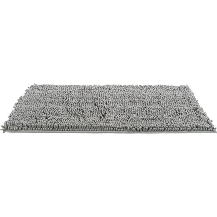 TRIXIE Tapis absorbant anti-saletés, imperméable - 120 x 80 cm - Gris - Pour chien