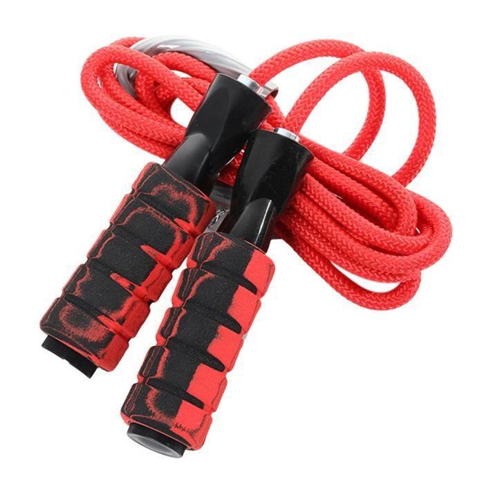 2.8 m haute vitesse corde à sauter Double roulement en Nylon corde à sauter réglable corde en coton portant le poids