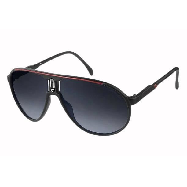 CE Lunettes de soleil style carrera champion noir et rouge UV400 Catégorie 3