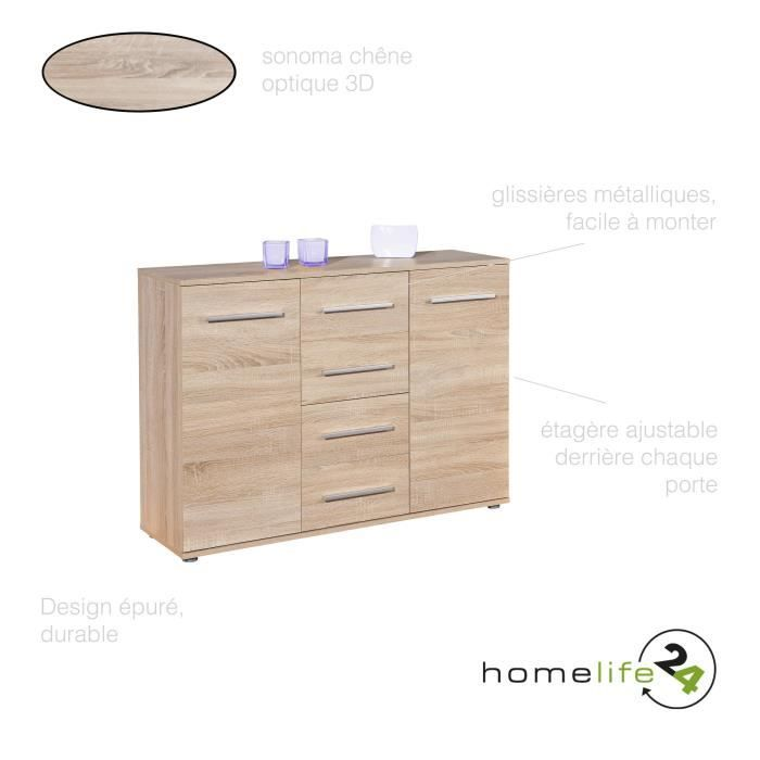 grande commode 2 portes 4 tiroirs commode chambre