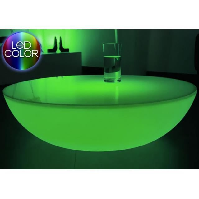 Table Basse Lumineuse Led Multicolore Moonlite Achat Vente