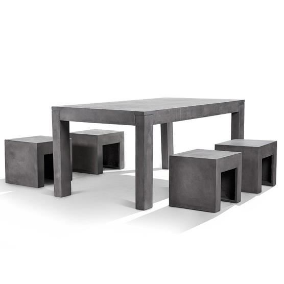table de jardin en beton. Black Bedroom Furniture Sets. Home Design Ideas