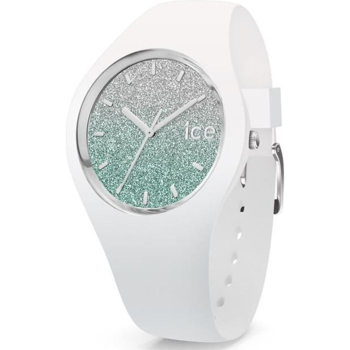 MONTRE Montre ICE-WATCH ICE LO 35mm en Silicone Blanc