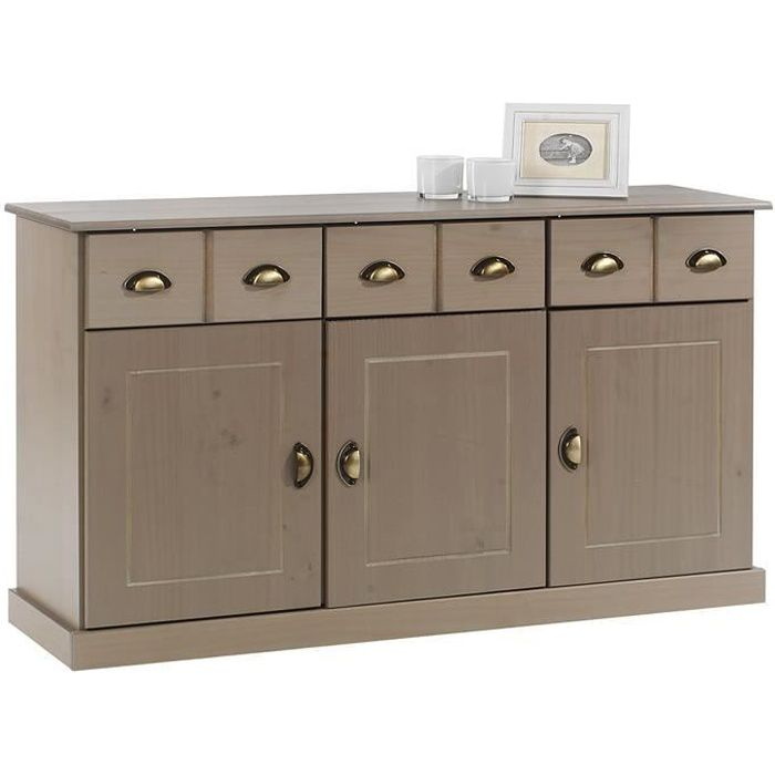 enfilade pin massif achat vente enfilade pin massif pas cher cdiscount. Black Bedroom Furniture Sets. Home Design Ideas