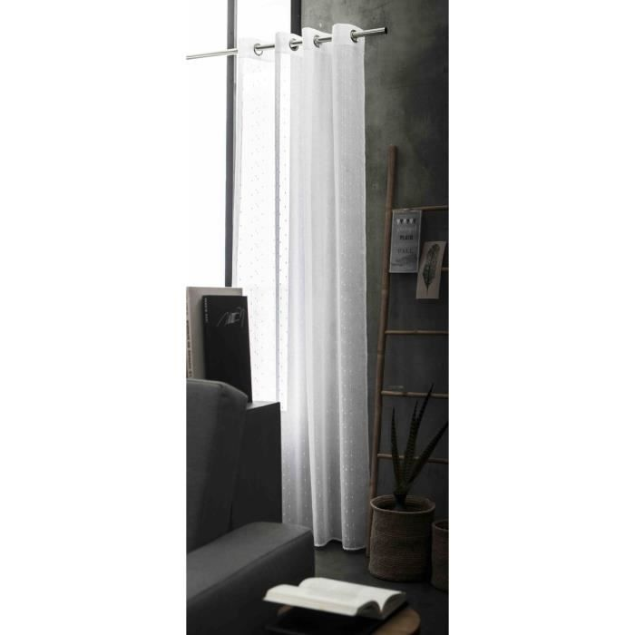 VOILAGE TODAY Voilage LIGHTY 135x240cm blanc