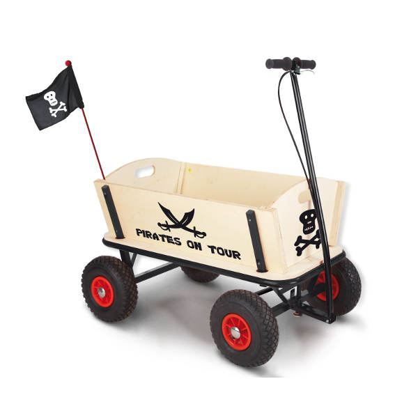 chariot roues pirate jack en bouleau massif et m achat. Black Bedroom Furniture Sets. Home Design Ideas