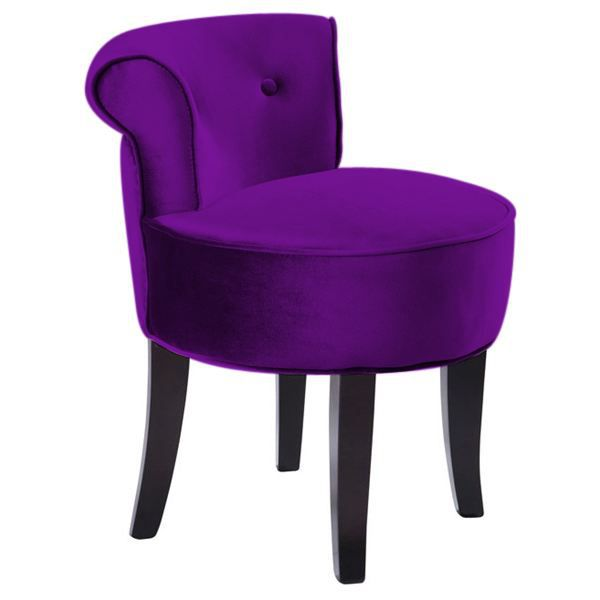 petit fauteuil carrousel velours violet achat vente. Black Bedroom Furniture Sets. Home Design Ideas