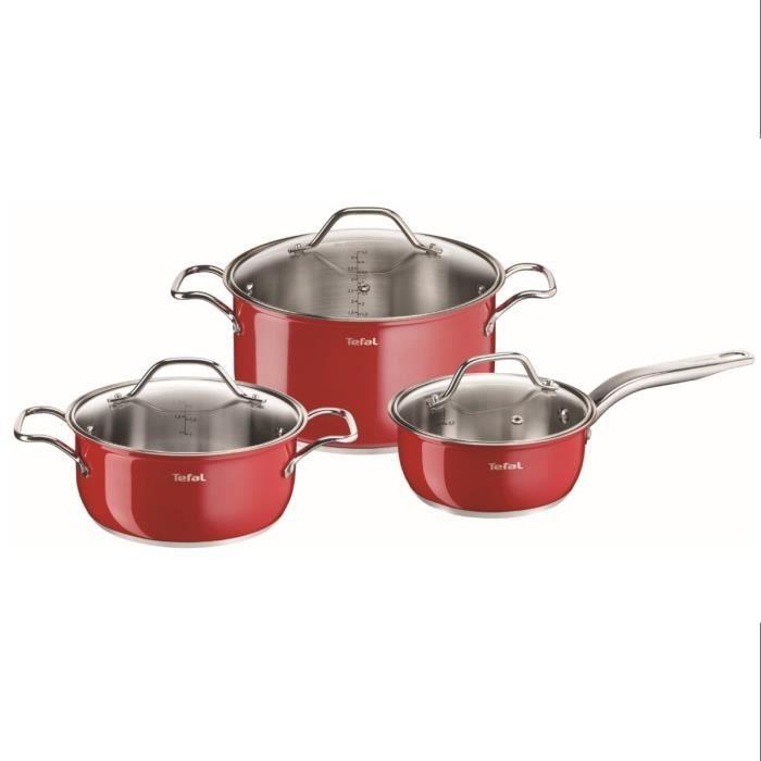Tefal Inox Intuition Colors Batterie De Cuisine 6 Pieces B903s374