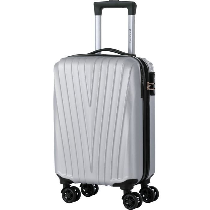 VALISE - BAGAGE TRAVEL WORLD Valise Cabine Trolley Low Cost 4 Roue