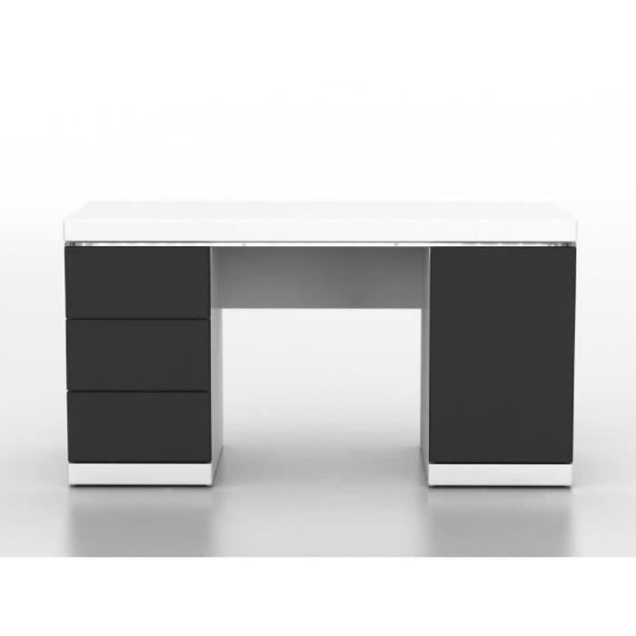 bureau gris laque achat vente pas cher. Black Bedroom Furniture Sets. Home Design Ideas