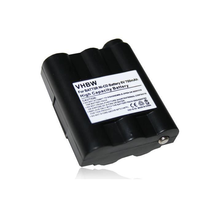TALKIE-WALKIE vhbw NiMH batterie 700mAh pour radio talkie-walkie
