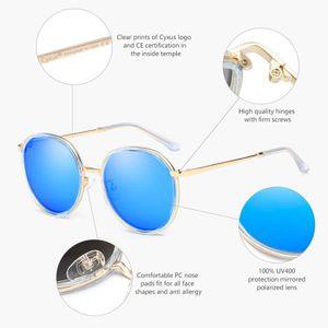 Joyfeel Acheter Rond Lunettes de Soleil Sports Style Eyewear Lunettes de Soleil polaris/ées pour Fille//Femme