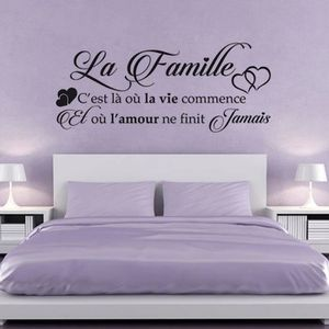 STICKERS Stickers muraux citation famille