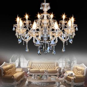 LUSTRE ET SUSPENSION Ridgeyard Lustre Cristal, 4 Embouts E14 Suspension