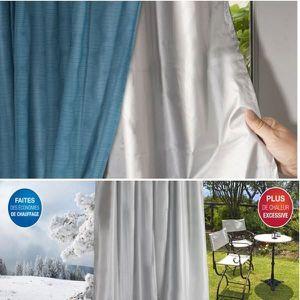 RIDEAU Rideau thermique isolant anti froid - Bleu