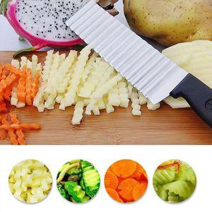 12 Pièces Couteau De Table En Acier Inoxydable Vagues Taille Couverts Couteau croute Couteau Couteau
