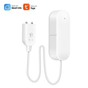 OWSOO Capteur de Fuite deau WiFi Alarme de Fuite deau sans Fil/,Alerte Alerte de Niveau deau de d/ébordement,Tuya Smart Life App,T/él/écommande Compatible avec Alexa Google