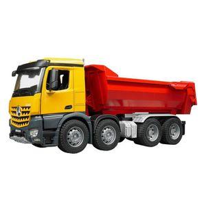 BENNE - CHARIOT A BENNE Bruder 03623 - Camion Benne Mb Arocs - Jaune Rouge
