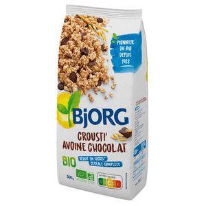 CÉRÉALES PETIT DEJ  BJORG Croustillants Avoine Chocolat Bio 500g
