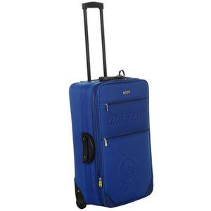 VALISE - BAGAGE Valise Trolley Voyage Cabine Dunlop Bleu 52 litres