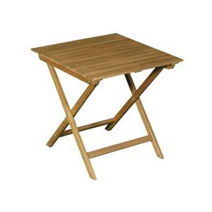 TABLE BASSE JARDIN  Table basse pliante de jardin en acacia FSC couleu