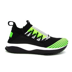 BASKET PUMA TSUGI JUN SNEAKERS NERO BIANCO VERDE FLUO 365